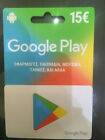 15€ Google Play Gift Card GREEK STORE ONLY. FREE SHIP ABSOLUTELY GENUINE!!!!