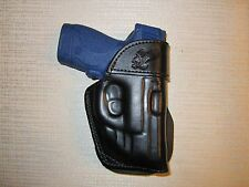 M & P SHIELD 9MM & 40 CAL. WITH CRIMSON TRACE LASER, PADDLE HOLSTER,leather,owb