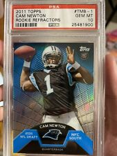 CAM NEWTON TOPPS REFRACTOR ROOKIE PSA 10 CHASE (REPACK)