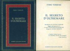 TOMBARI Fabio, Il segreto d'oltremare. Bagaloni Editore, 1976