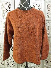 ALPS QUALITY APPAREL Orange & Black Long Sleeve Thick Warm Pullover Sweater L
