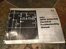 1984 BMW E30 325i 325e 318i Electrical Troubleshooting Wiring Diagram Manual
