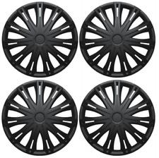 RENAULT CAPTUR CLIO rifiniture ruota Hub Caps coperture in plastica nera Set Completo 15 in (ca. 38.10 cm)