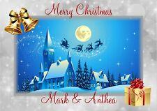personalised Christmas card Santa Any name/relation