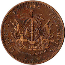 1886 Haiti 1 Centime Coin KM#48