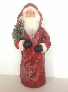 POTTERY BARN VINTAGE SANTA OBJECT NEW SOLD OUT AT POTTERY BARN HARD TO FIND RARE