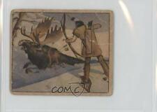 1949 Bowman Wild West Indian Customs #B-4 Bow-and-arrow Hunting Card 2h8