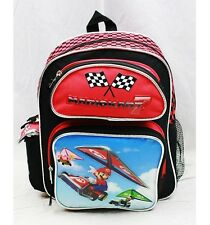 "Nintendo Super Mario Bros MARIO KART 12"" Small Backpack School Bag Authentic!!!"
