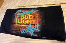 "Vintage Ra Briggs Anheuser Busch Bud Light ""Gimme A Light� Beach Towel 1988"