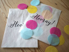 10x modern style 'Hooray!' confetti bags for wedding, party, favours