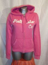 LOVELY Women's HOLLISTER pink full zip embro  hoodie size S  great cond