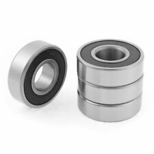 H● 4pcs 20mm x 47mm x 14mm 6204RS Rubber Shielded Deep Groove Ball Bearing