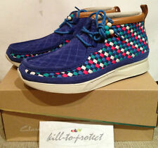 (USED) FOOT PATROL x CLARKS TAWYER Sz US8.5 UK8 BLUE Rare Multi Woven 2013 RF