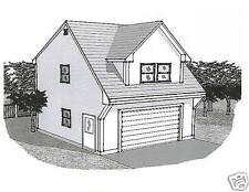22x24 2 Car Carriage Garage Building Blueprint Plans