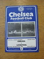 07/09/1963 Chelsea V Liverpool (piegati, piegato, piccolo segno di penna all'interno)