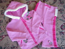 *NWT* Girls Soft Fleece Floral Zip Hoodie & Pants 18 mo