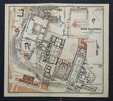 1899 Antica Topografica = ROMA:  MONS PALATINUS = ITALIA.SCALA 1:3225.