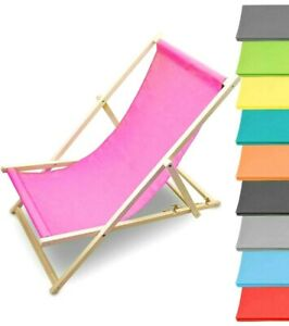 Strandliege Liegestuhl Sonnenliege Gartenliege Holzliege Sonnenstuhl verstellbar