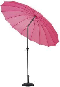 2.6M or 2.7M Tilting Parasol Shanghai Umbrella Garden Patio NEW 4 summer colours