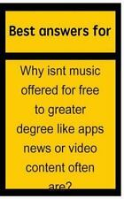 Best Answers for Why Isnt Music Offered for Free to Greater Degree Like Apps...