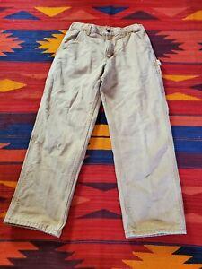 Carhartt B111 BRN Duck Flannel Lined Original Fit Work Pants Mens 33x30
