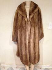 Women's Outerwear Winter Genuine real Mink Fur long Coat Jacket plus fits XL/ 1X