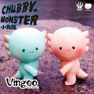 UNBOX CHUBBY Transparent Pink Blue Cute Dragon Figure Toy Limited Ver
