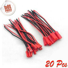 10Pair 100mm Male+Female JST Connector Plug Cable Line for RC BEC Lipo Battery U