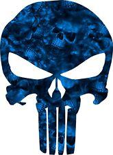 Punisher Blue Reaper Camo Skull Vinyl Decal Matte Sticker Laminated