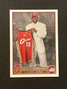 2003-04 Topps Lebron James Rookie RC #221 100% Authentic Lakers