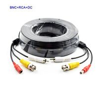 New 5M,10M,20M,30M,50M BNC Audio Video DC Power Cable Lead For CCTV Camera DVR