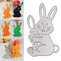 Easter Rabbit Carbon Steel Cutting Dies Stencil Scrapbooking Craft Embossing DIY