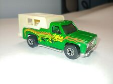1974 Hot Wheels Backwoods Bomber Camper Truck. Green with dragon decal. Nice