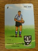 1963 Pepys 'Goal' Card: Sheffield Wednesday - 'The Owls Hillsborough' Card No.F