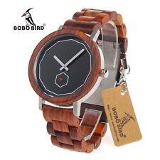 BOBO BIRD M29 Red Sandalwood Wooden Quartz Watch For Men With Full Wood Strap