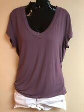 Mossimo Women's Plum V-Neck Rayon T-Shirt Sz.L
