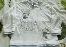 GORGEOUS BABY'S NEXT  LONG SLEEVE TOP  9-12  MONTHS MOUSE AND BEAR