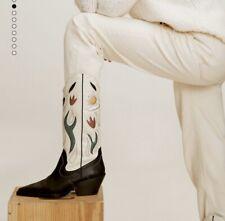 Mango Ultimate Cowboy Leather Boots 6 39 Multicolour