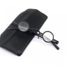 New Retro small round glasses anti fatigue nose clip foldable presbyopia glasses