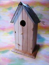 Metal Roof Wood Birdhouse - New! On Sale!