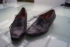 BRUNO MAGLI Damen Schuhe Schnürer Halbschuhe edel Gr.38,5 Leder schwarz #89