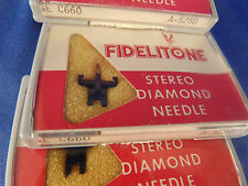 5 Diamond Stereo Fidelitone turn table needles play record #511-D7 GEC660 A525D
