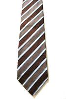 ERMENEGILDO ZEGNA Krawatte Tie braun gestreift Seide Luxus (J4/99)