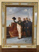 Dipinto olio su tela firmato dall'artista raffigurante Napoleone Bonaparte