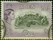 Aden 1957 20s Noir & Lilas Foncé SG72 Très Bien Utilisé