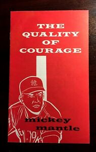 """Mickey Mantle 1967 Booklet """"The Quality of Courage"""" Vintage Original GM Book"""