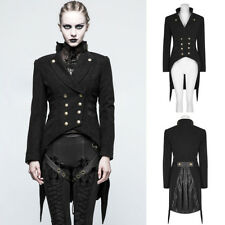 Punk Rave Y-771 Military Jacket Goth Steampunk Black Tailcoat