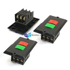 3PCS KAO-5K 6-Terminals SPST 2P Locking Electromagnetic Switch Black 380V 5A
