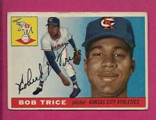 1955 TOPPS # 132 ATHLETICS BOB TRICE  VG+  CARD (INV# A3676)