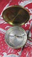 ancienne boussole en laiton XIXe a couvercle capot 4.2cm houillot